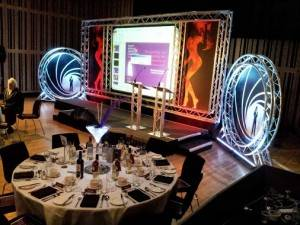 Allan Smyth Audio Visual 007 Themed awards ceremony